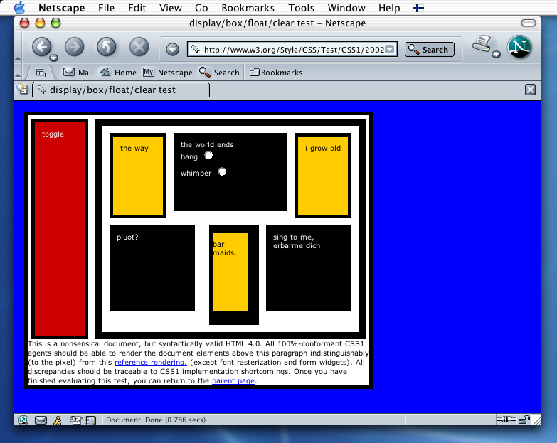 Mac OS X Browser Comparison